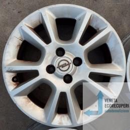 Cerchio in Lega Usato da 16 pollici per Opel Corsa - Lotto C-1469